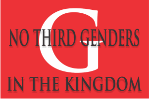 No Third Genders in the Kingdom of God