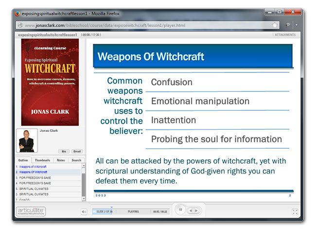 A E I  Exposing Spiritual Witchcraft eLearning Bible Course