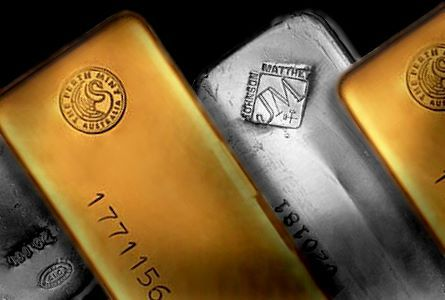 gold silver bars large